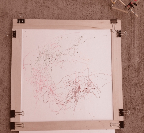 drawing frame sepia